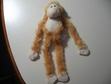 """12"""" plush Monkey doll with velcro hands, good condition"""