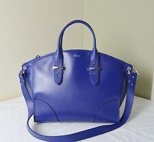 Alexander McQueen  Ultramarine Blue Leather Legend  Shopper