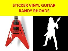 RANDY RHOADS STICKER WHITE GUITAR VISIT OUR NEW TORE WITH MANY MORE HEAVY MODELS