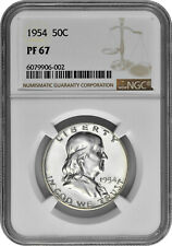 1954 50c Silver Proof Franklin Half Dollar NGC PF 67