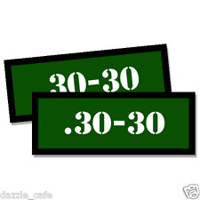 30-30 Ammo Can Stickers 2x Ammunition Gun Case Labels  GREEN Decals 2 pack