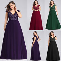 Ever-Pretty Cap Sleeve Formal Lace Evening Dress Cocktail Party Bridesmaid Gown