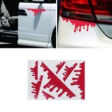 7Pcs Bleeding Red Blood Drip Zombie Undead Reflective Funny Car Sticker Vinyl