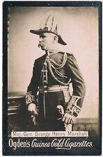 Vintage Ogden's Guinea Gold Cigarettes George Maj. Henry Marshall Tobacco Card