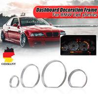 Für BMW E46 3er Chrom Instrumente Tacho Ringe Blenden Tachochromringe Limousine