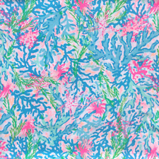 Lilly Pulitzer Coral Bay Fabric | Soft Polyester with Stretch