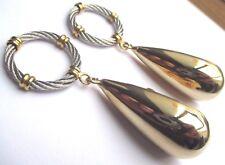 boucles d'oreilles clips bijou vintage déco anneaux 2 couleurs or argent  2212