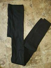 Womens Ellen Tracy Fleeced Black Tights 1 Pair M/L Footless Tights Medium/Large
