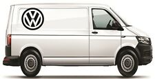 """Volkswagen VW Extra Large 17"""" logo Decal Graphic X2 Transporter T5 T4 Caddy"""