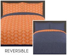 Sweet Jojo Designs Navy Toddler Bed Skirt for Modern Blue and Orange Stripe Collection Bedding Sets