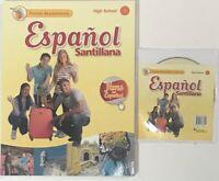 Espanol Santillana 1 Florida Assessment Book & Audio CD High School Spanish