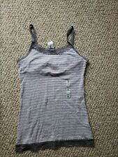 Old Navy Lavender Striped Tank Cami With Lace NWT XL