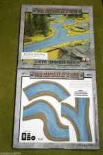 Battlefield in a Box RIVER EXPANSION FORK painted tabletop terrain 15mm to 28...