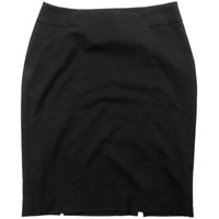 White House Black Market Black Below Knee Length Pencil Skirt Women's Size 10