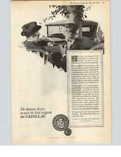 1925 Paper Ad Car Auto Automobile Cadillac V-63 Eight Cylinder Detroit MI