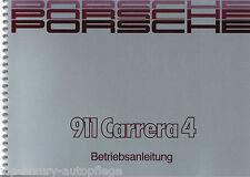 Betriebsanleitung Bedienungsanleitung Wartung Porsche 911 Typ 964 Carrera 4 NEU