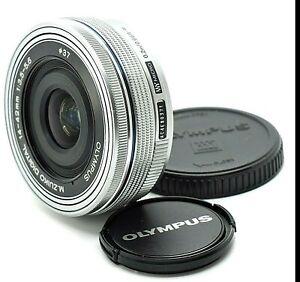 AS NEW Olympus Lumix 14-42MM f3.5-5.6 Pancake Lens ED EZ  M1442EZB  M43