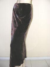 NEW $325.00  OSCAR DE LA RENTA  Brown Blue Silk Velvet Paisley Maxi Skirt Sz 4P