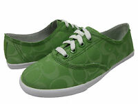 Coach Womens Klare Green Low Lace Slip On Casual Sneakers Shoes