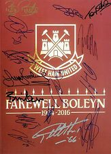 West Ham United Signed By 15 Legends FAREWELL BOLEYN 16x12 Photo AFTAL/UACC RD