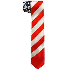 USA Flag Suit Neckwear Neck Tie Skinny Necktie