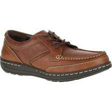 Hush Puppies Vine Victory Mens Wide Fit Brown Lace Up Leather Shoes Size UK 6-13