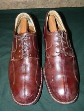 """JOHNSTON & MURPHY"" Men's Sz 10 M PREMIUM Comfort Oxfords Soft Brown Leather"