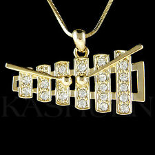 w Swarovski Crystal ~Bell Kit Set Xylophone Marimba percussion Music GT Necklace