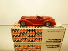 WESTERN MODELS WMS33 ALFA ROMEO 8C 2900B SPIDER by TOURING - RED 1:43 - GOOD IB