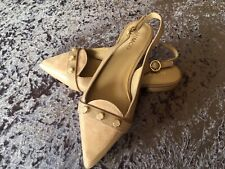 Mimco Shoes  Slingback Flats- Nude Colour Size 38