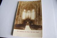Rare Vintage RPPC Real Photo Postcard B1 New York Lady Chapel Cathedral Seats