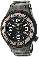 Swiss Legend 21819p-bb-11-ra Mens Black Dial Analog Quartz Watch