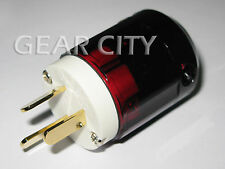 ppl4a Gold AU Mains Power Plug Male Copper Connector Cable Cord 3 Pin HiFi