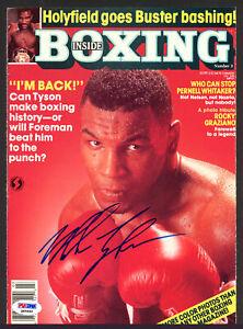 Mike Tyson Autographed Inside Boxing Magazine Cover Vintage PSA/DNA Q65699