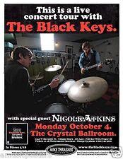 "BLACK KEYS / NICOLE ATKINS 2010 ""THIS IS A LIVE CONCERT TOUR"" PORTLAND POSTER"