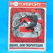 DDR Illustrierter Motorsport IMS 10/1978 Six Days Sigmund Jähn Drehna Wasserski