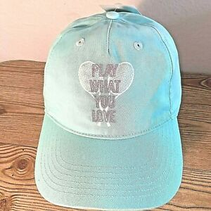 """NWT Prince Women's Tennis 'Play what You Love"""" Adjustable Hat Blue"""