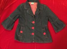 GORGEOUS AUTHENTIC PUMPKIN PATCH DESIGNER DENIM JACKET GIRLS SIZE 10