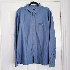 Men's Billabong Blue Chambray Long Sleeved Shirt Size Large