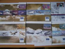 6 DIFFERENT FLIGHT/AIRCRAFT/AVIATION FDCs,VARIOUS COUNTRIES,EXCELLENT.