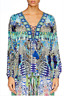 new CAMILLA FRANKS SILK SWAROVSKI LEAVE ME WILD LACE UP LACE UP TOP KAFTAN layby