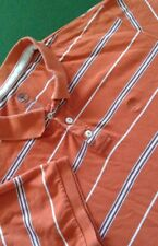 Mens Timberland Orange Striped Polo Shirt Size Large Chest 42''