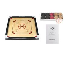 "Carrom Board Game Set 26"" x 26"" With Coins, Striker & Rule Book Wooden Carrom"