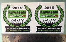2015 World Super Bike Champions ZX10R Decals Stickers for Kawasaki X2