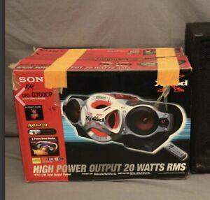 Sony CFDG700CP Xplod Portable CD Radio Cassette Recorder Boombox Speaker System