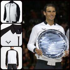 B14 Nike NikeCourt Rafael Nadal Tennis Jacket White/Black Size XL 830929 100