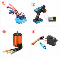 120A Brushless Motor +ESC Set Remote Control Rocker Arm for WLtoys 144001 RC Car