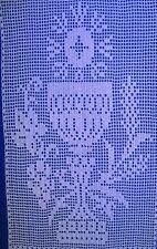 Calice  napperon dentelle religieuse au crochet en coton blanc fait main neuf