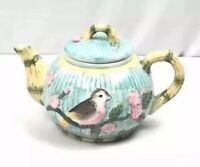 Ceramic Teapot Hummingbird & Floral Design.