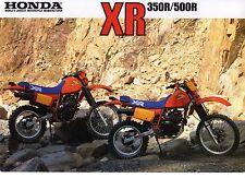 1984 HONDA XR350RE XR500RE 2 page Motorcycle Brochure NOS